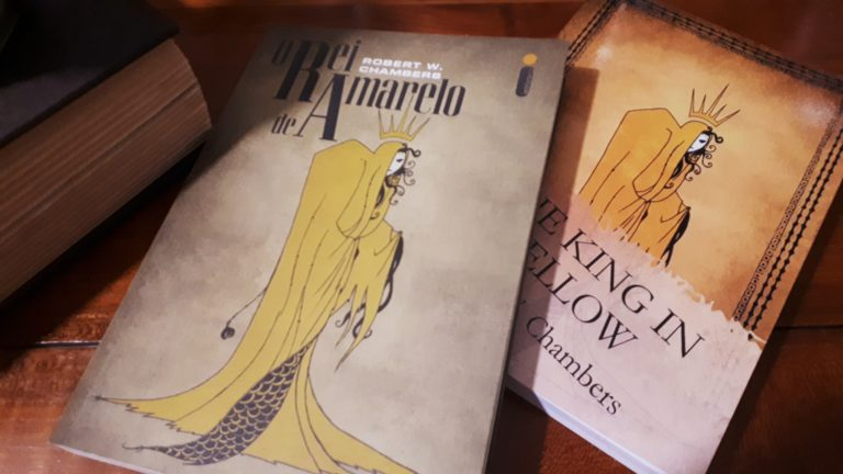 Couverture pour le roi en jaune illustration jean philippe chambert king in yellow o rei de amarelo
