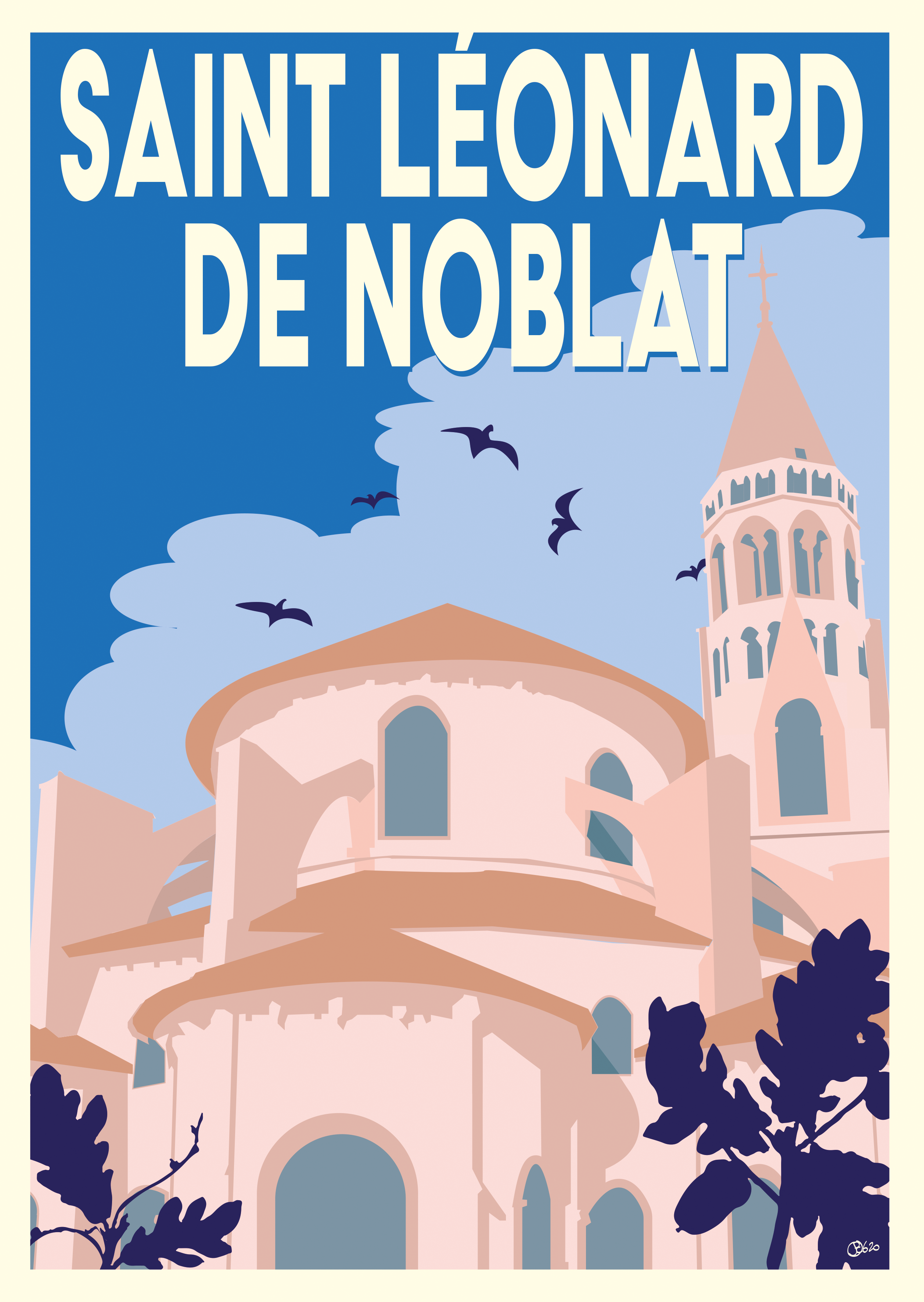 Carte postale retro st Léonard de Noblat