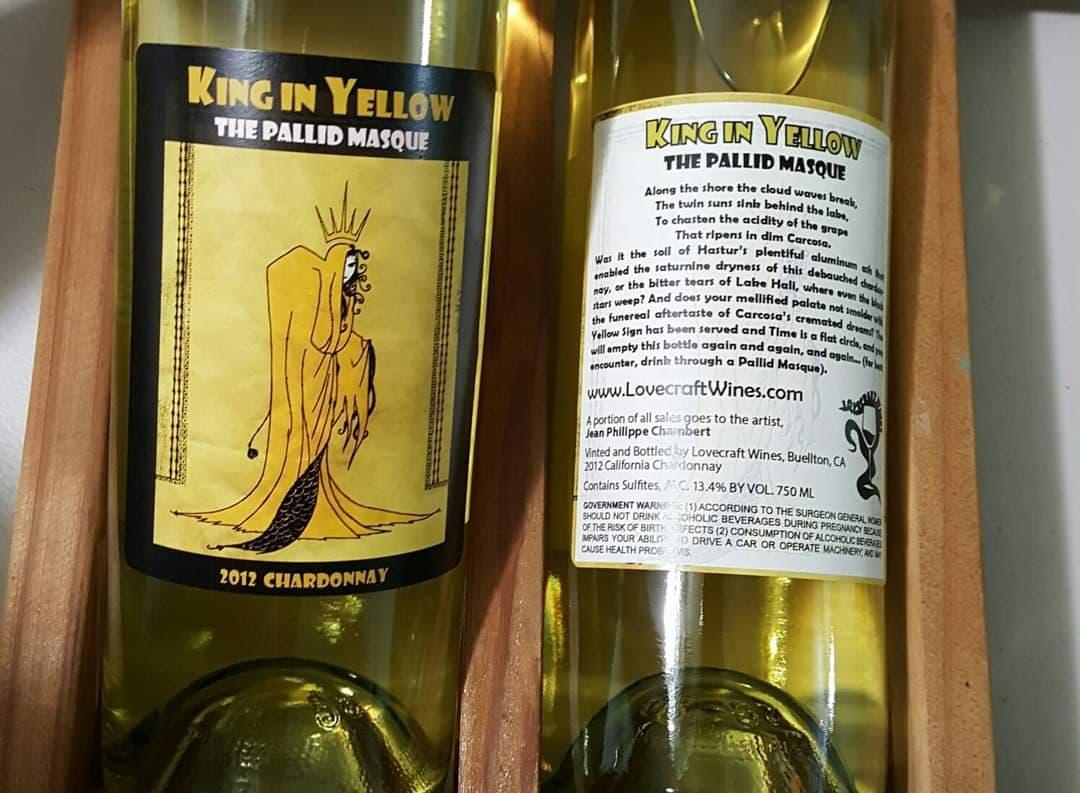 Etiquette vin Roi en Jaune Jean Philippe Chambert