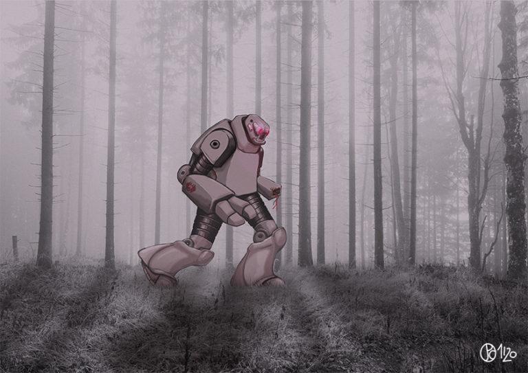 Robot dans les bois
