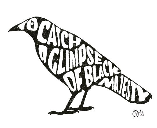 Corbeau noir texte