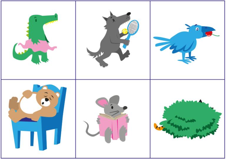 Cartes othophonie animaux mélangés