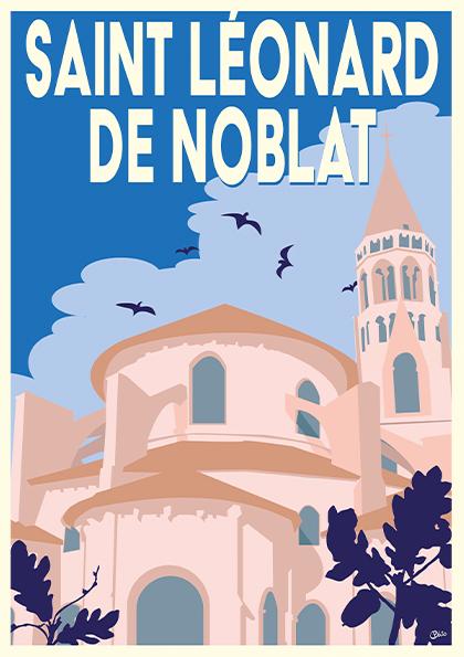 Carte postale vintage St Léonard de Noblat